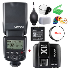 лучшая цена Godox VING V850II GN60 2.4G HSS 2000mAh Battery Camera Flash Speedlight +X1T-C Trigger Transmitter for Canon DSLR Camera + Gift
