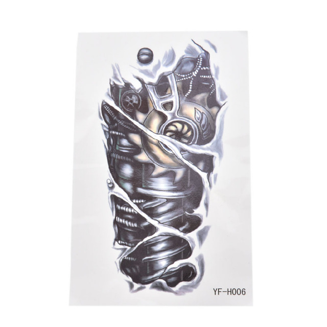 3D Waterproof Temporary Tattoos For Boy Men Mechanical Arm Design Large Tattoo Sticker Free Shiping