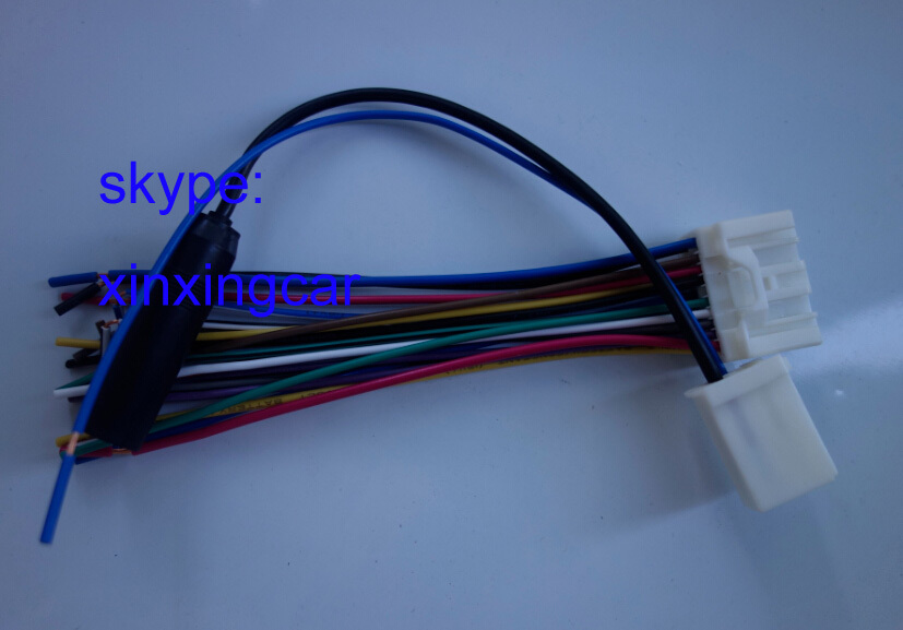 Free shipping toyot auto car radio stereo wire harness adapter