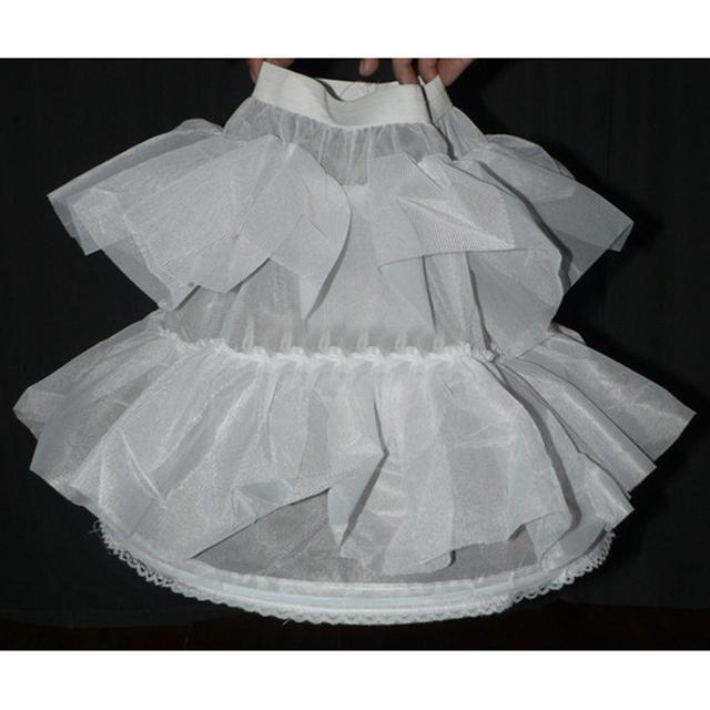 Niños slip 1-Hoop Blanco niña de las flores Niña de las flores Pannier enaguas de la enagua/Crinolina