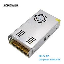 JCpower AC1110 220 V do DC 12 V 30A 260 w transformator napięcia przełącznik zasilacz do Led Strip sterowania Led przełącznik Led wyświetlacz LED