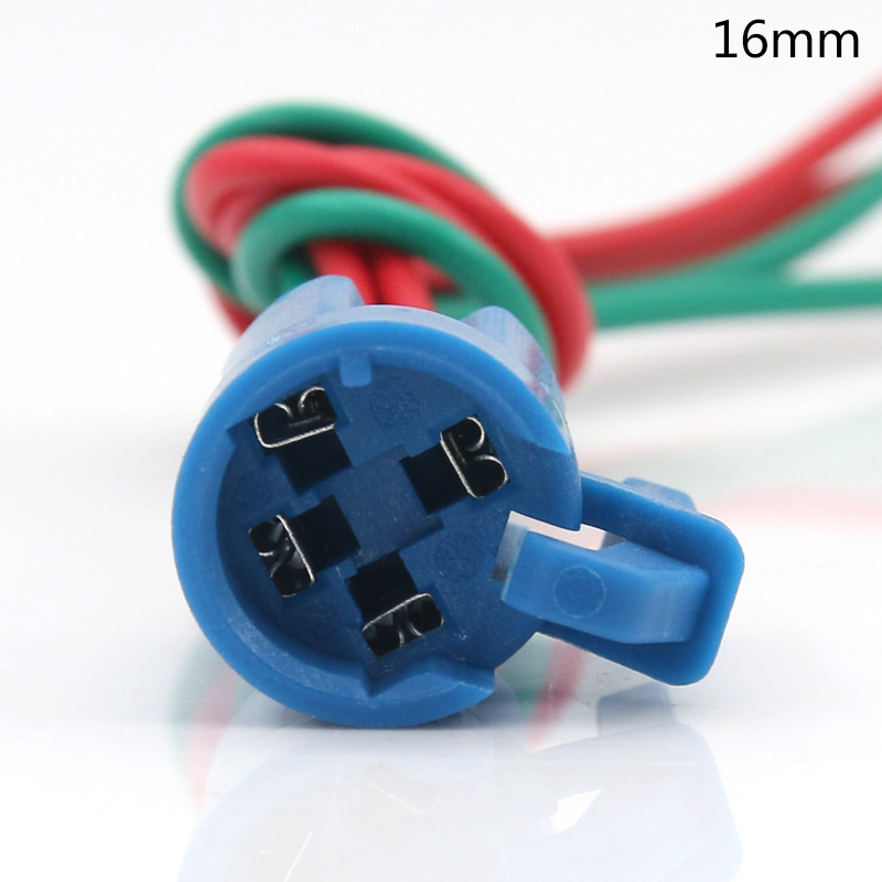 16 mm metal button switch special large current connector base switch accessories line 20 cm long