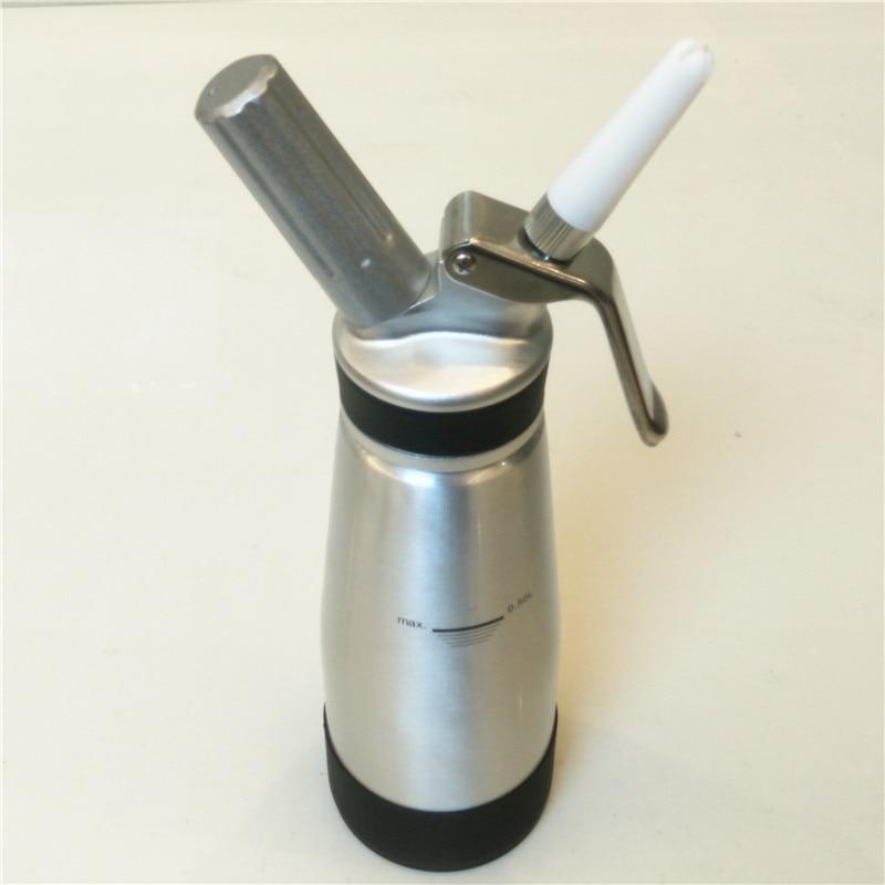 Whipped Cream Dispenser Aluminium Body Head 500ml Cream Whipper 3 Decorating Nozzles Uses Standard N20 Cartridges