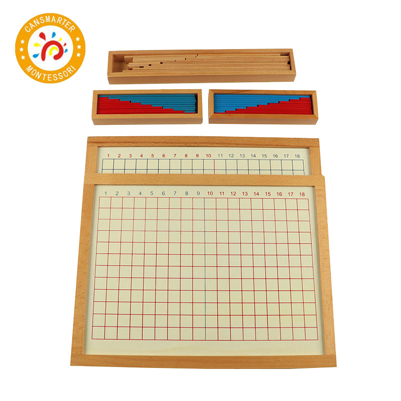Baby Toy Montessori Material Math Addition and Subtraction Strip Board