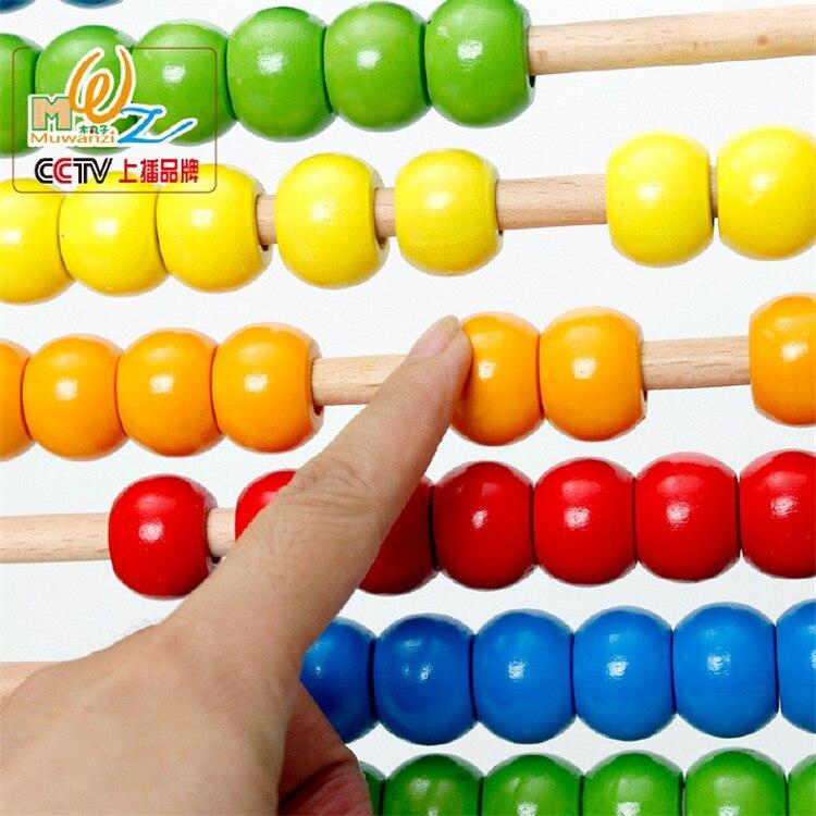 Montessori éducatif en bois boulier 100 perles bébé jouet petite enfance préscolaire formation comptage nombre cadre Maths aide - 3