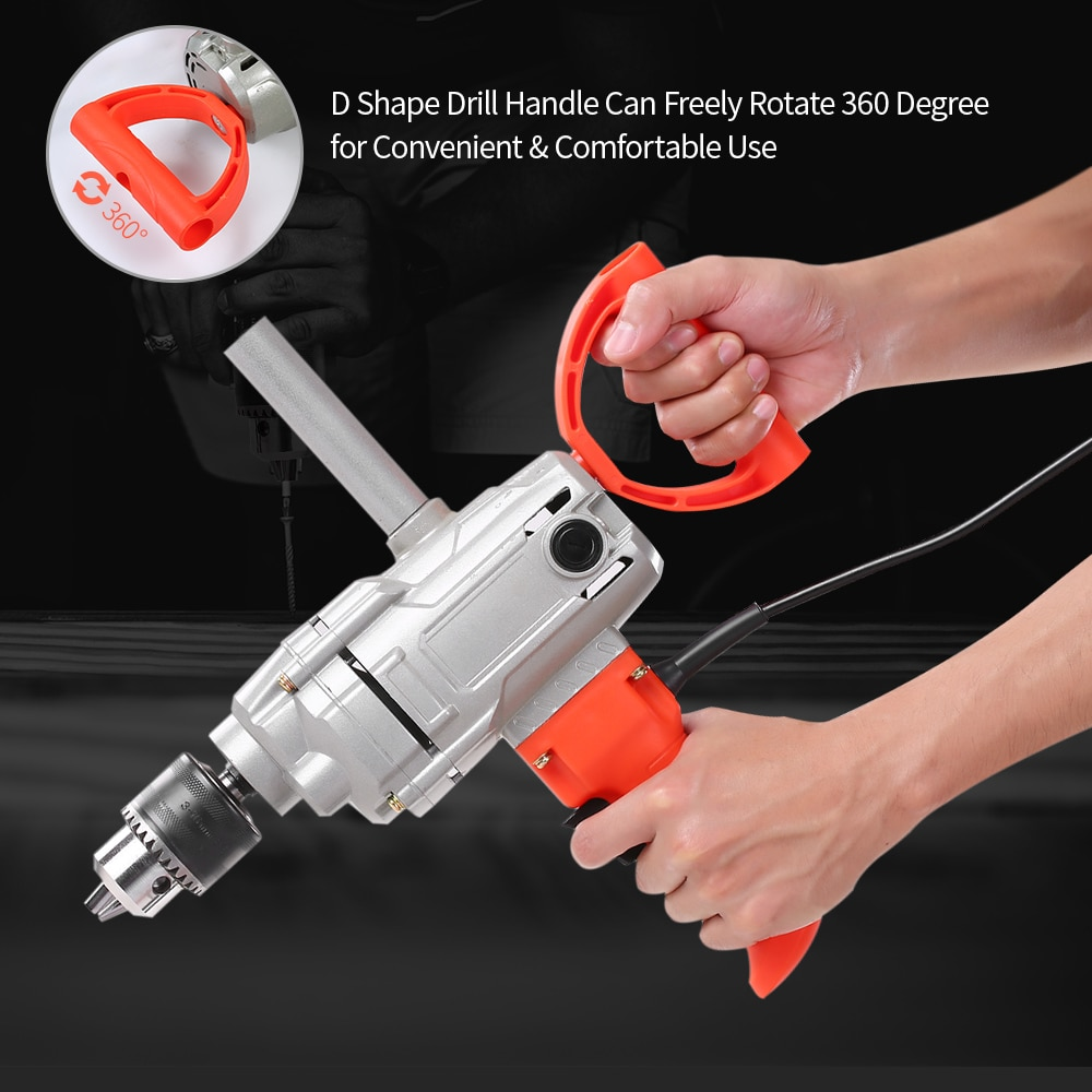New Design Power Drill Corded Spade Handle Drill Stirring and Drilling Tools Electric Hand Mixer for Mud Cement Oil PaintNew Design Power Drill Corded Spade Handle Drill Stirring and Drilling Tools Electric Hand Mixer for Mud Cement Oil Paint