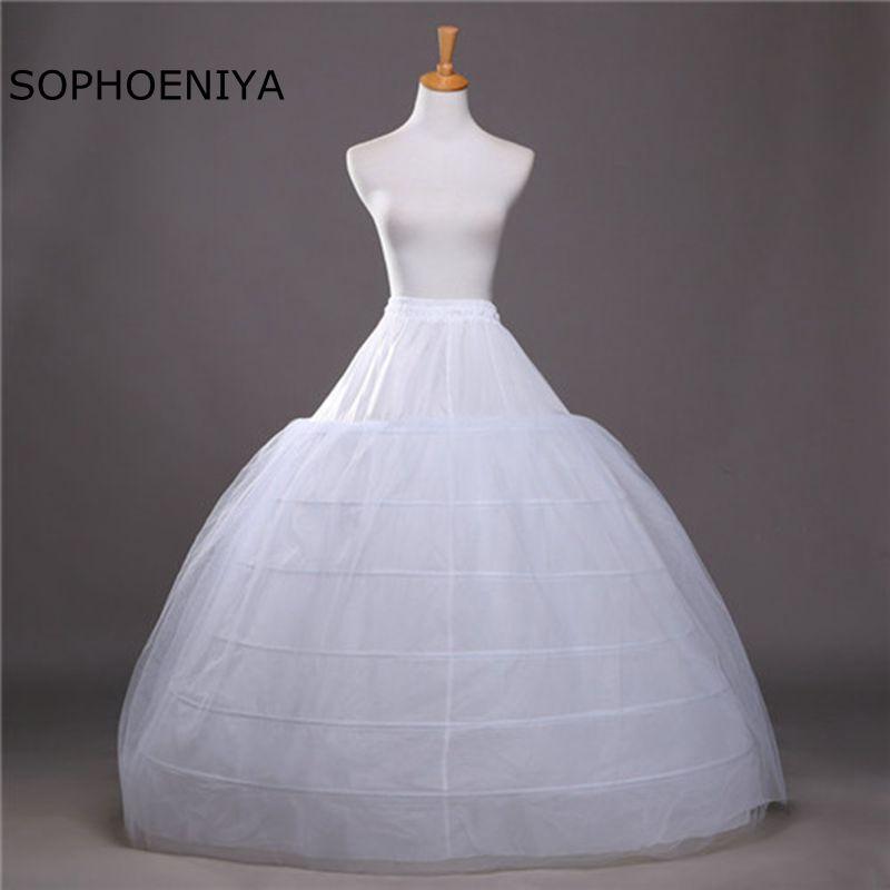 New Arrival Underskirt 6 Hoops Crinoline Petticoat Jupon Mariage 2020 Rockabilly Dress Wedding Accessories Jupon Rockabilly