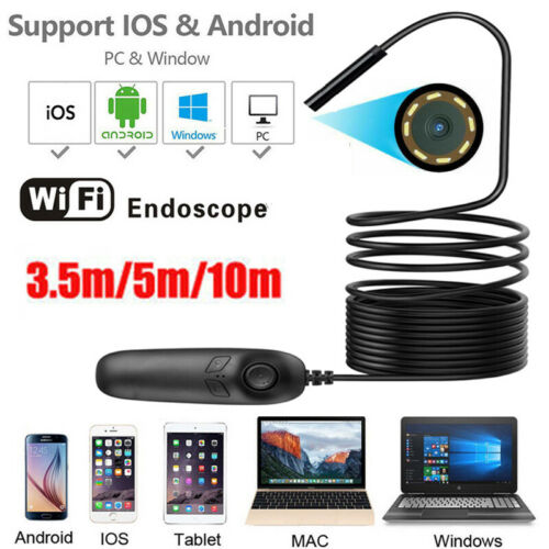 3.5m WiFi Endoscope Inspection Camera Waterproof For IOS Android IPhone Mac