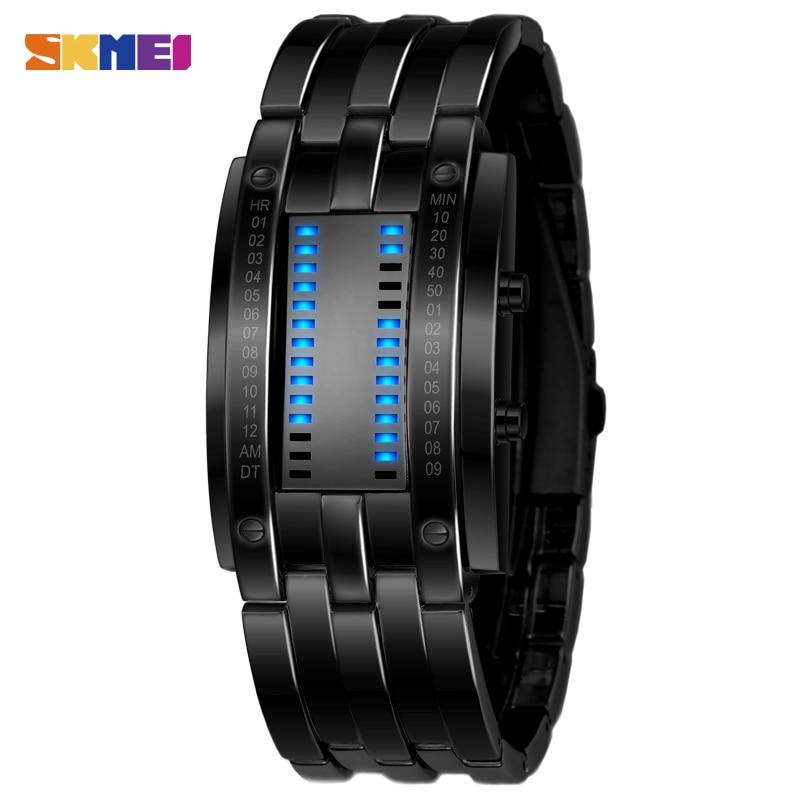 SKMEI Moda Yaratıcı Saatler Erkekler Lüks Marka Dijital LED Ekran - Erkek Saatleri - Fotoğraf 2
