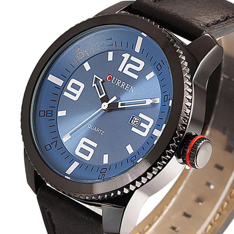 relogio masculino Luxury Curren Brand Leather Analog Display Men s Quartz Watch Casual Watch Men Light