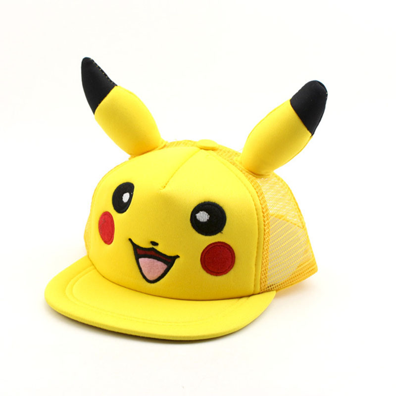Fashion Anime Cartoon Pokemon Pikachu Baseball Caps For Parent-child Adult Children Hip Hop Hats Sun Hat Outdoor Shade Cap Kleidung & Accessoires