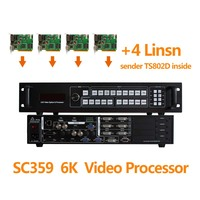 4pcs Linsn Ts802d Sending Card Linsn And Led Display Video Quad Processor Sc359 For Led Rgb