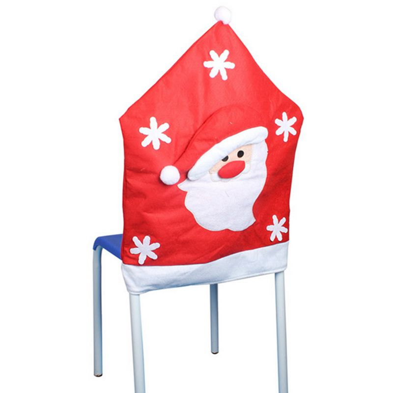 Urijk 1pc Christmas 2018 Chair Cover Dining Seat Covers