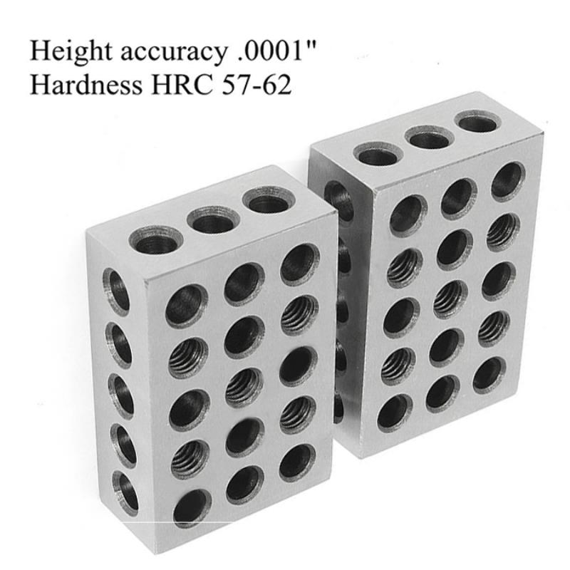 "1 Matched Pair Ultra Precision 1-2-3 Blocks 23 Holes .0001/"" Machinist 123 Jig"