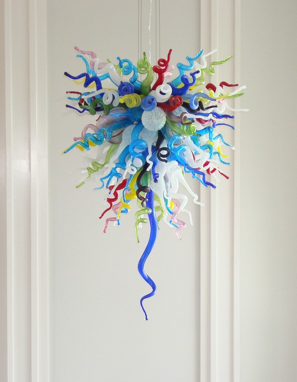 Guzhen Newest Design Tiffany Colored Glass Chandelier Hotel/Home Lighting