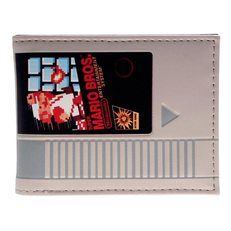 Novelty Nintendo Mario Bi-Fold Wallet DFT-2041 star wars rebel emblem logo mix material bi fold wallet dft 1874