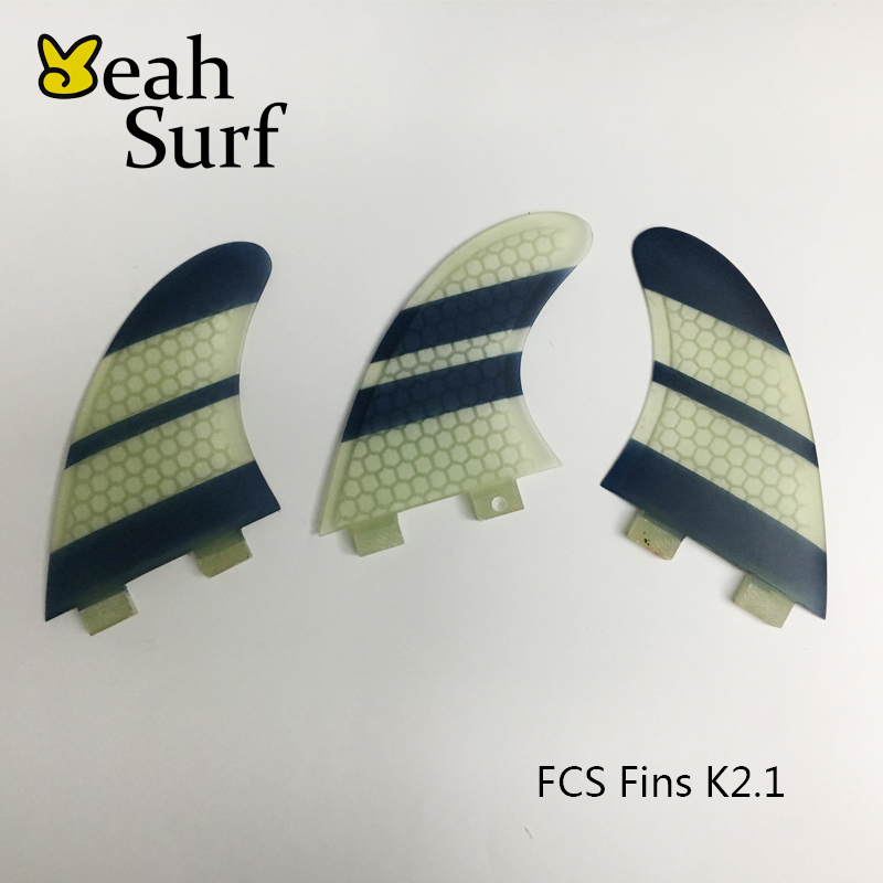 Wake Board Free Shipping Surf Paddling Fins FCS K2.1 Fin White and Black Honeycomb Fibreglass Fins Surf FCS Fin free shipping made in china cheapest quality sup table fin system 8 centre fin and 2 pcs fcs g5