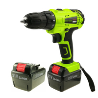 21v Cordless Screwdriver Household Power Tools Rechargeable Electric Drill Two Lithium Battery Parafusadeira Furadeira Tools