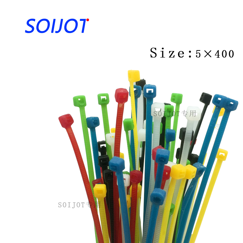 5*400mm Self locking Nylon Cable Ties 8 inch 100Pcs 2 color Plastic Zip Tie 18 lbs black wire binding wrap straps UL Certified ботинки patrol ботинки