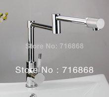 S-111 Современный одно отверстие хром поворотный раковина и ванной смеситель кран