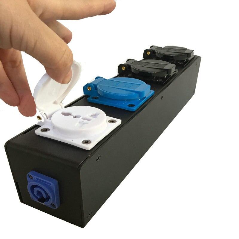 Свет этапа 4in1 высокое качество водонепроницаемый шкаф с электрооборудованием с Мощность con в DMX кабель мощность кабель разъем универсальны