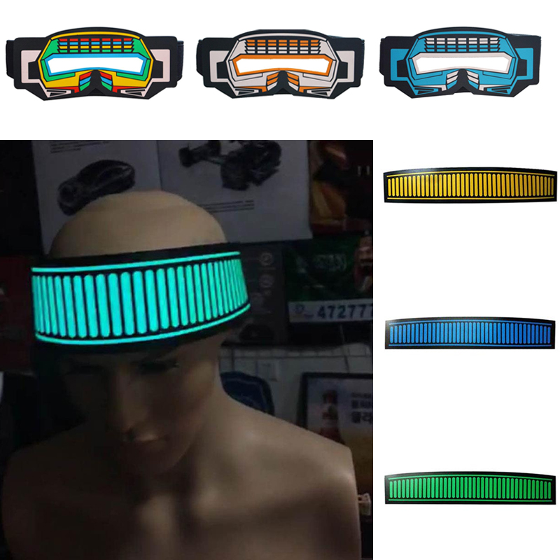 halloween music voice control luminous glowing hairband headband maskschina - Online Halloween Music