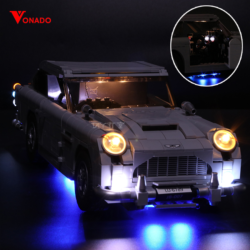 Led Licht Set Für Lego 10262 Kompatibel 21046 Aston Martin DB5 Bausteine Ziegel technik rennen auto (LED licht + batterie box)