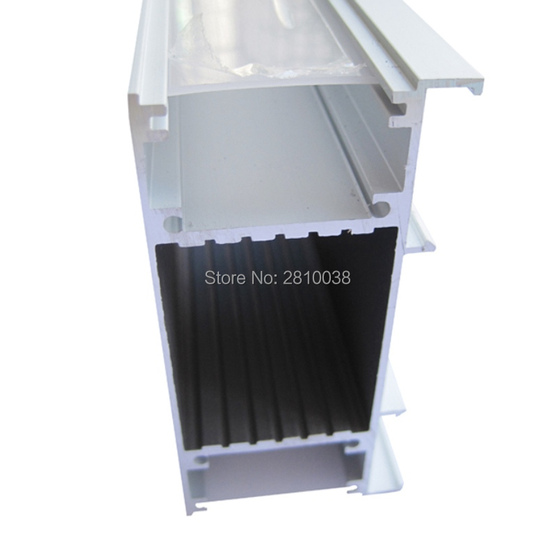 10 X 2M Sets/Lot wall washer aluminum profile for led stripes H type aluminium led channels for up and down wall lights 50 x 2m sets lot office lighting led profile housing 75 mm tall u type led aluminum extrusion for suspension lights