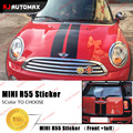 Car Front + Tail Creative Racing Stripes Stickers Decals for Mini Cooper R55 Clubman 2007-2013 Hood and Rear Decals