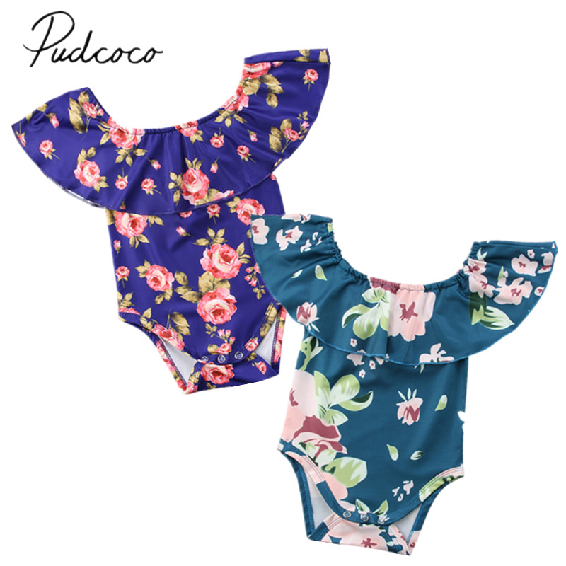 94fa03d20dc8 Detail Feedback Questions about 2018 Brand New Floral Newborn Infant Baby  Girl Summer Off shoulder Cape Collar Princess Romper Jumpsuit Outfits  Sunsuit ...