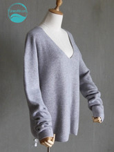 LinenAll women's sweater 100% cashmere sweater ingot needle predetermined paragraph