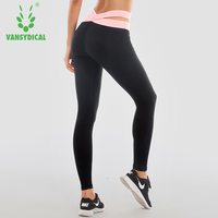 VANSYDICAL Fitness Autumn And Winter Sports Pants Quick Drying Training Pants Running Tight Elastic Feet Yoga Pants For Women
