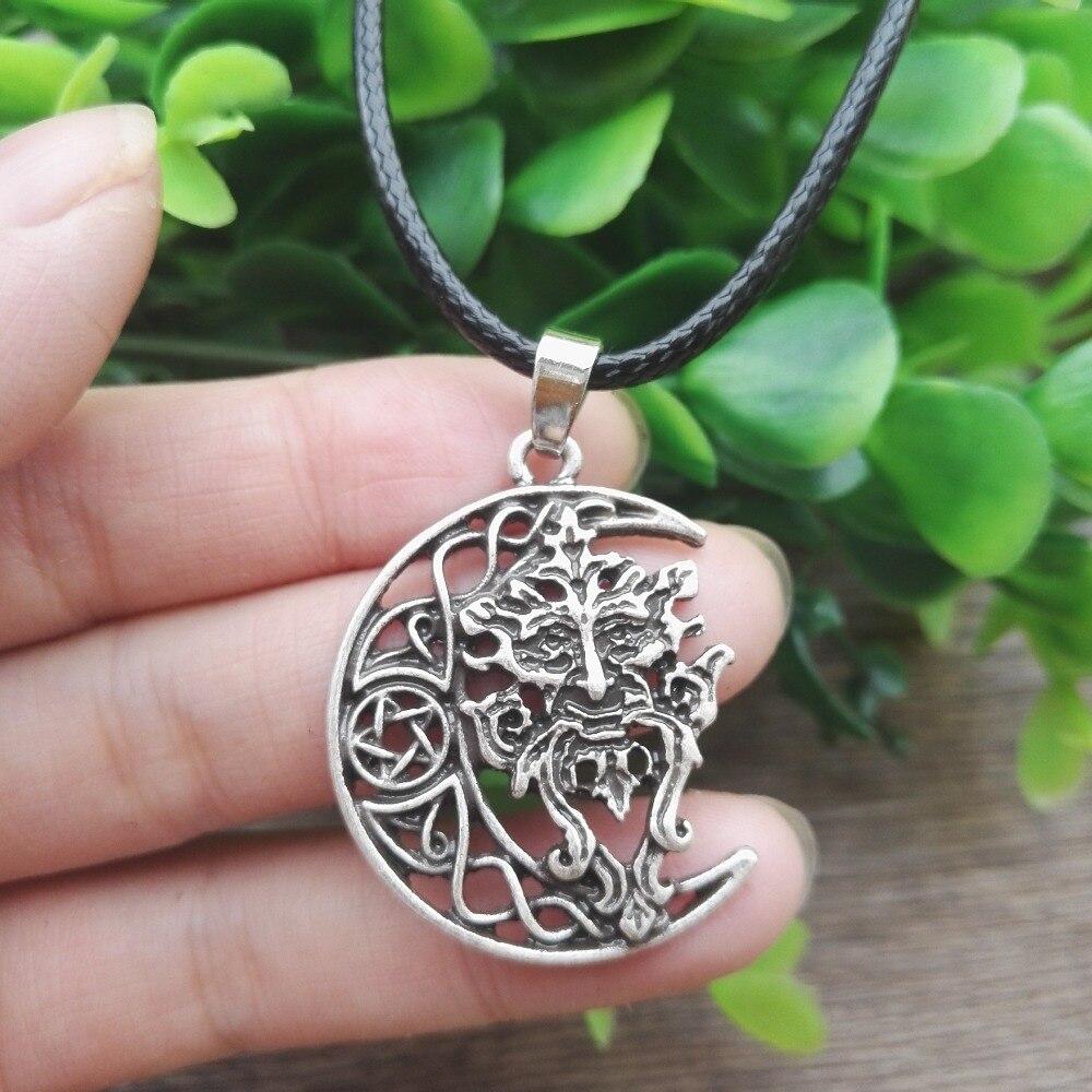 1 adet dropshipping celtic Yeşil Adam kolye Celtic Wicca Pagan Tanrı Ağacı  Ruh takı SanLan