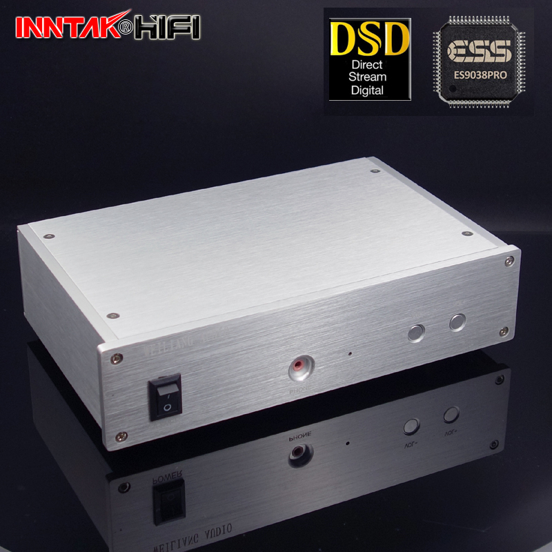 2018 New ES9038pro + XMOS XU208 USB DAC decoder W/ Lehmann architecture headphone amplifier