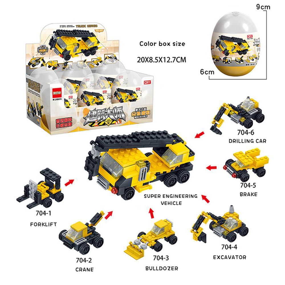 2019 Hot egg shark dinosaur animal armored car convenience store building blocks toys DIY Assembly Model figures in Blocks from Toys Hobbies
