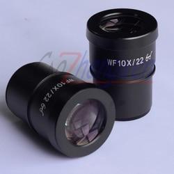 FYSCOPE High Point szerokokątny okular mikroskopu WF10X/22 MM 30mm wysokiej jakości mikroskop akcesoria do Zoom mikroskop stereo w Mikroskopy od Narzędzia na