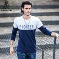 Pioneer Camp mens t shirt fashion 2017 tshirt casual  mens t shirt long sleeve cotton o-neck shirts print men 522092