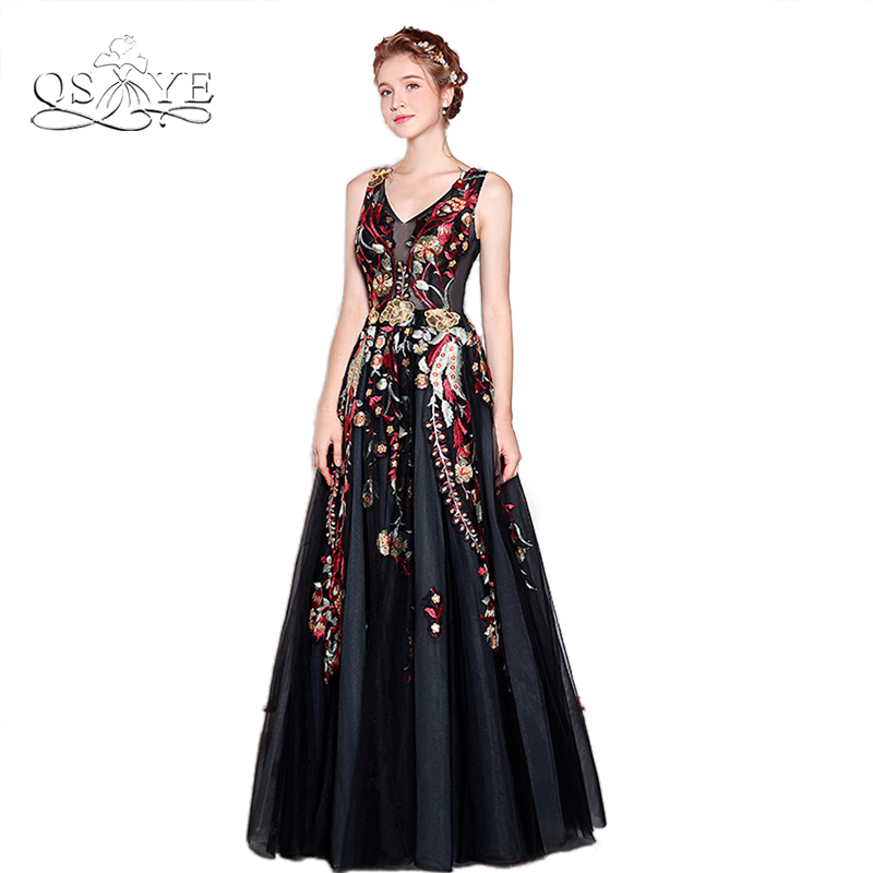 Sexy Floral Prom Dresses 2017