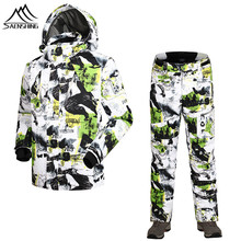 Winter Men Waterproof Ski Snowboarding Suit Warm Windproof Outdoor Sports Hiking Climbing Pants And Jacket Hot Sale