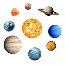 hot deal buy pvc wall stickers nine planets wall stickers for children bedroom 3d planets glow in the dark wall stickers for living room