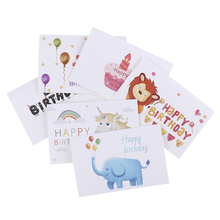 6pcs Set Custom Envelopes Invitations Blank Inside Greeting Cards Thank You Bulk Birthday Card For Kids Note With