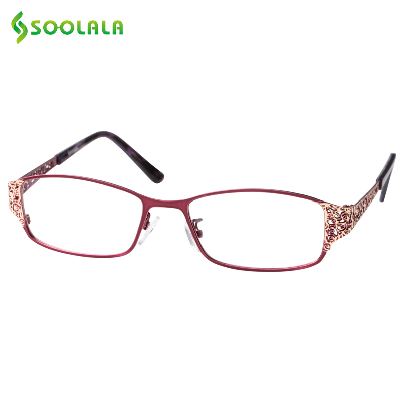 SOOLALA Reading Glasses Women Men Hollow Arm Full Rimmed Reading Glasses Diopter Presbyopic Glasses +0.5 1.5 1.75 2.25 to 5.0|reading glasses|presbyopic glasses|reading glasses women - title=