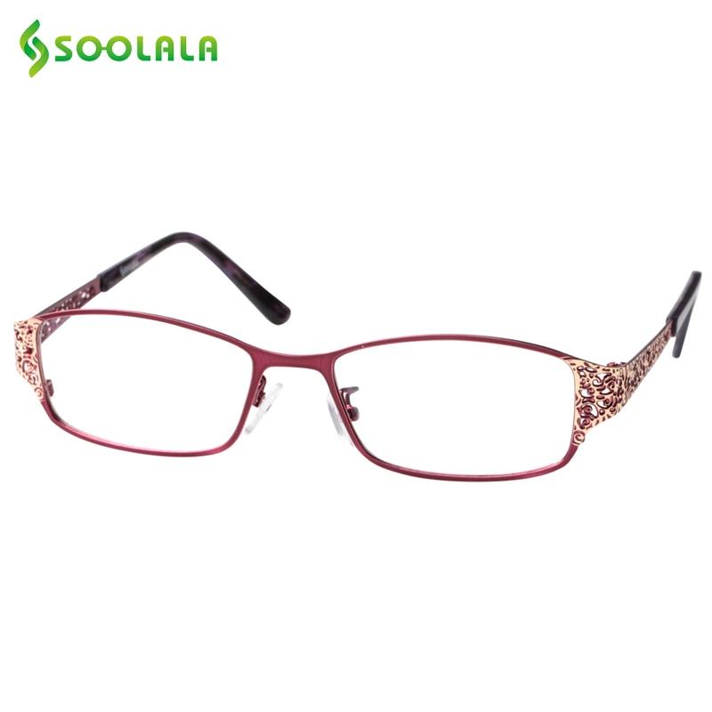 b4ddbf3211 SOOLALA gafas de lectura de los hombres y las mujeres hueco brazo lleno de  montura gafas de lectura dioptrías gafas de presbicia + 0,5 de 1,5 de 1,75  a 2,25 ...