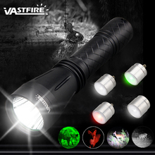 VA-160 Modular Hunting Flashlight 1 Mode 400 Yard 3 Light color (Green/Red/White)+IR850 Tactical flashlight for 18650 ultrafire zb 006 290lm 3 mode white light zooming flashlight silver grey 1 x 18650