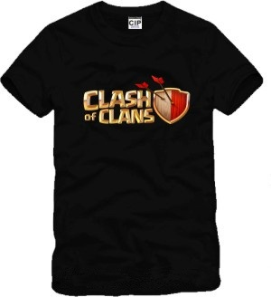Game Supercell clash of clans tshirt men 100% cotton casual