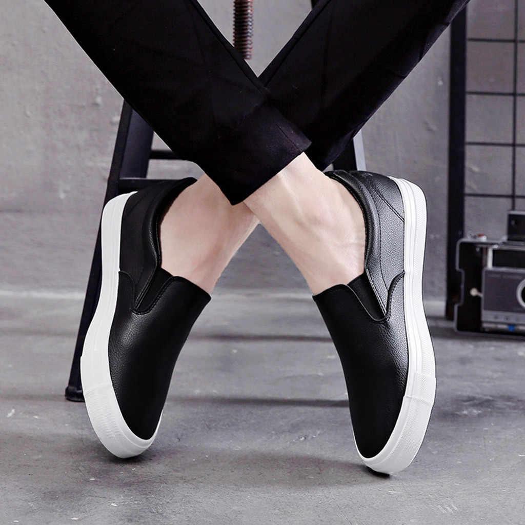 Big Size Mannen Schoenen Slip Op Mannen Casual Schoenen 2018 Ademend Mannelijke Lente Sneakers Loafers Bootschoenen Dec3