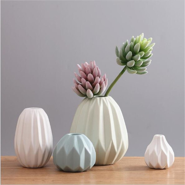 Nordic Modern Minimalist Living Room Dining Table Soft Ornaments Ceramic  Vases Decoration Dried Flowers Floral Arrangements