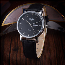 Onlyou Lover's Watch Wrist Watches For Women Men Leather Quartz Watch with Calendar Waterproof Men's Stylish Watch Gifts 81019