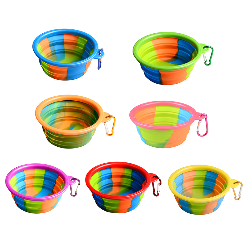 Portable Puppy Silicone Collapsible Feeding Bowl Dog Water
