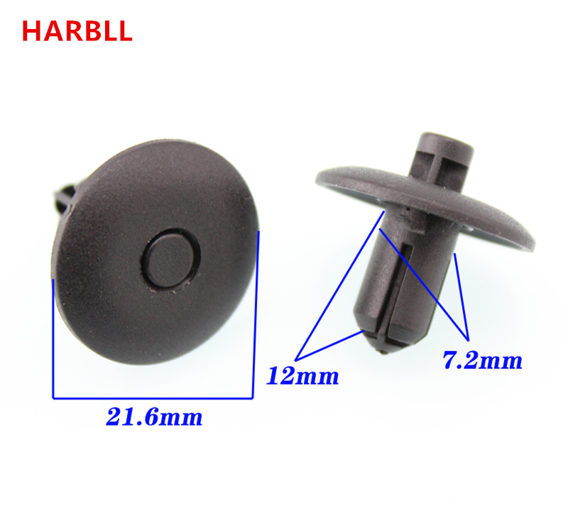 HARBLL 15PCS for Audi Q5 A4L A5 A6L TT A8L plastic fasteners For Water tank on the net bumper cover plate clip card